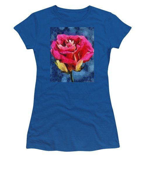 Women's T-Shirt (Junior Cut) featuring the digital art By Any Other Name by Joe Misrasi
