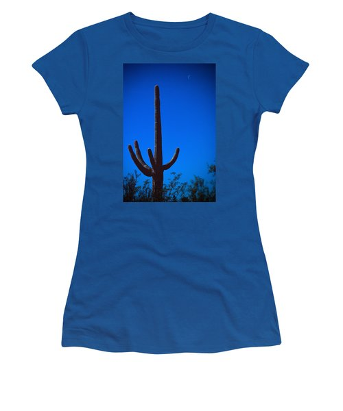 Cactus And Moon Women's T-Shirt