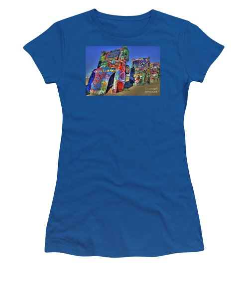 Cadillac Ranch Women's T-Shirt (Athletic Fit)
