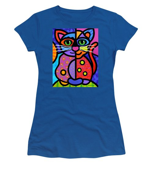 Calico Cat Women's T-Shirt (Athletic Fit)