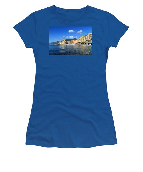 Women's T-Shirt (Junior Cut) featuring the photograph Camogli - Italy by Antonio Scarpi