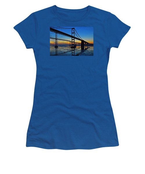 Chesapeake Bay Bridge Reflections Women's T-Shirt (Athletic Fit)