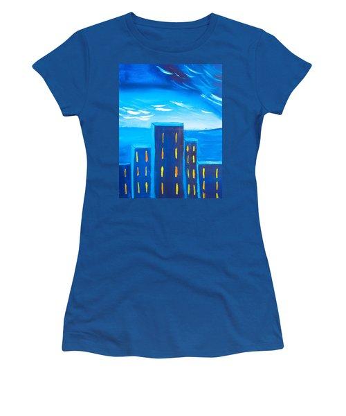 City Women's T-Shirt (Junior Cut) by Joshua Maddison