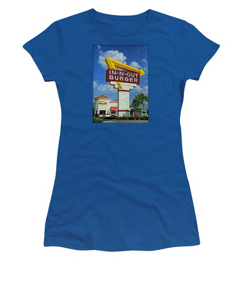 Classic Cali Burger 1.1 Women's T-Shirt (Junior Cut) by Stephen Stookey