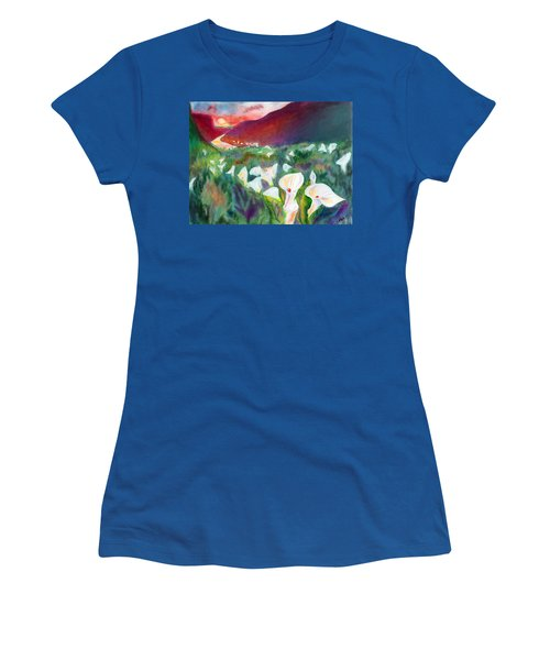 Coastal Callas Women's T-Shirt (Junior Cut) by C Sitton