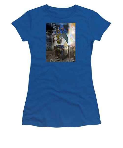 Conglomerate Or Camouflage Women's T-Shirt (Junior Cut) by Phyllis Kaltenbach
