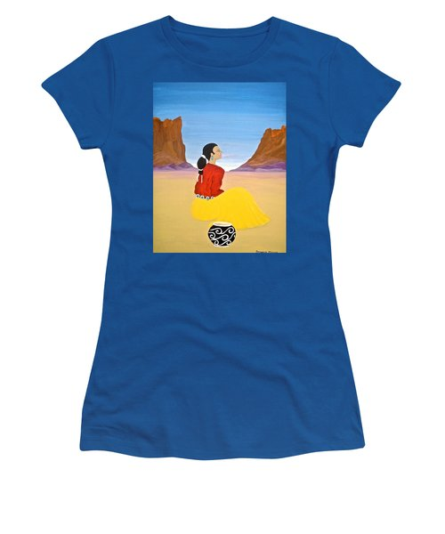 Contemplation Women's T-Shirt (Junior Cut) by Stephanie Moore