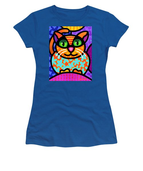 Contented Cat Women's T-Shirt (Athletic Fit)