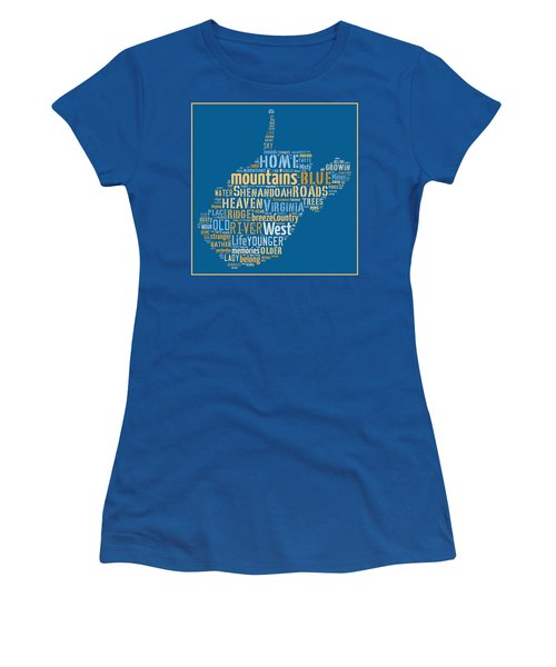 Country Roads 3 Women's T-Shirt (Junior Cut) by Paulette B Wright