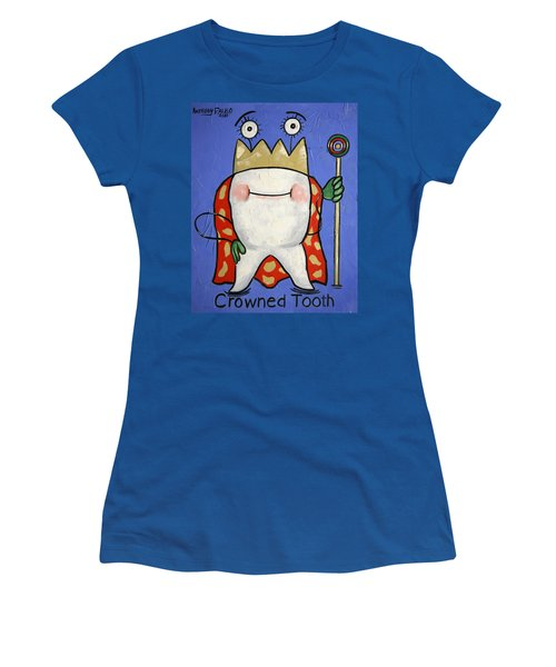 Women's T-Shirt featuring the painting Crowned Tooth by Anthony Falbo