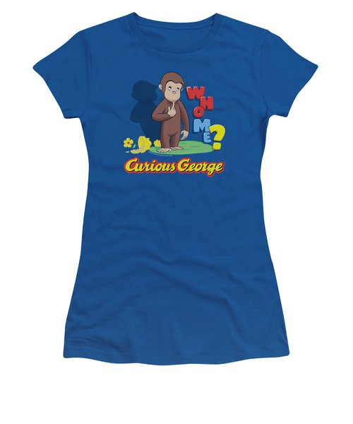 Curious George - Who Me Women's T-Shirt (Athletic Fit)