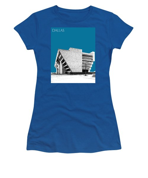 Dallas Skyline City Hall - Steel Women's T-Shirt (Athletic Fit)