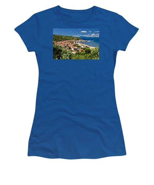 Dalmatian Island Of Susak Village And Harbor Women's T-Shirt (Athletic Fit)