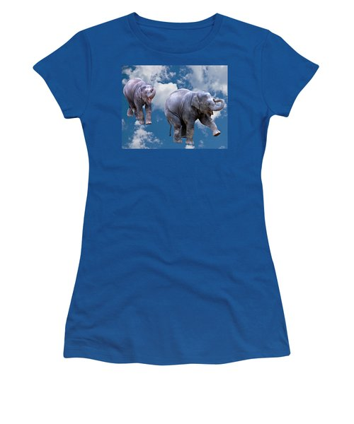 Dancing Elephants Women's T-Shirt (Athletic Fit)
