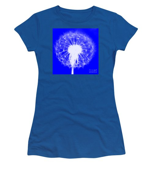 Women's T-Shirt (Athletic Fit) featuring the digital art Dandylion Blue by Clayton Bruster