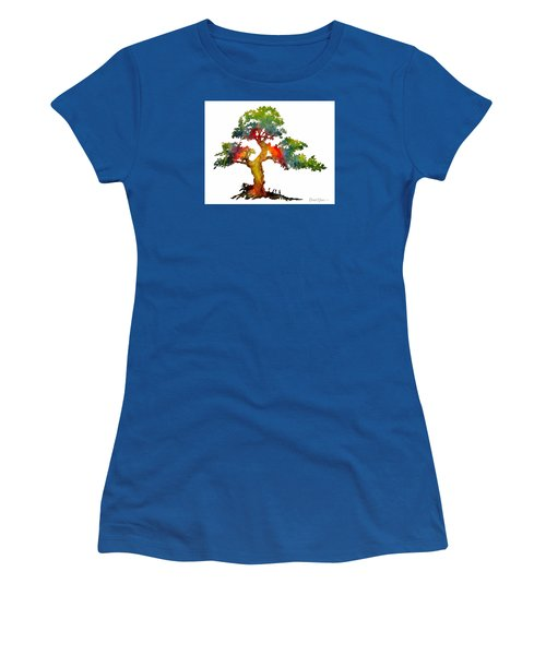 Da140 Rainbow Tree Daniel Adams Women's T-Shirt (Athletic Fit)