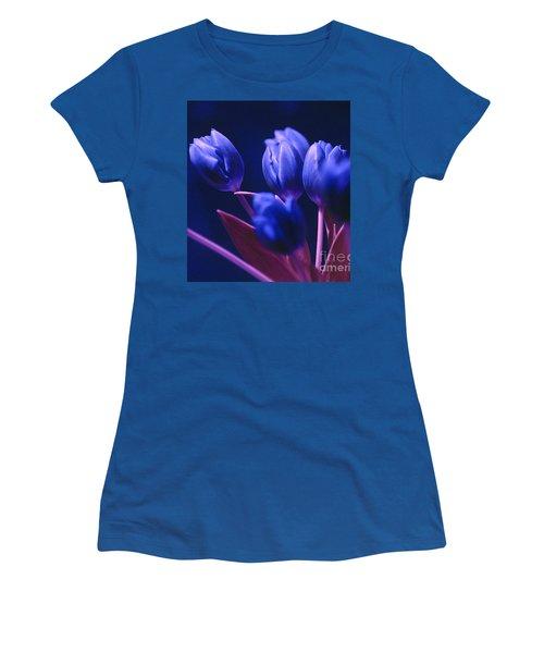 Dark Blue Tulips Women's T-Shirt