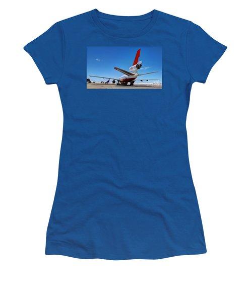 Women's T-Shirt (Junior Cut) featuring the photograph Dc-10 Air Tanker  by Bill Gabbert
