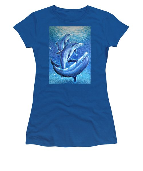 Dolphin Trio Women's T-Shirt (Athletic Fit)