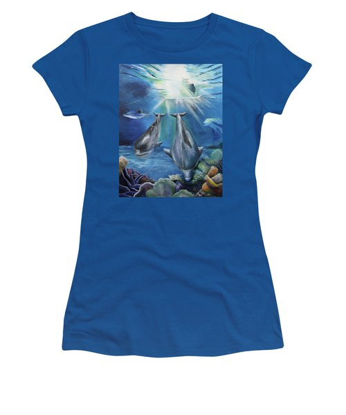 Dolphins Playing Women's T-Shirt