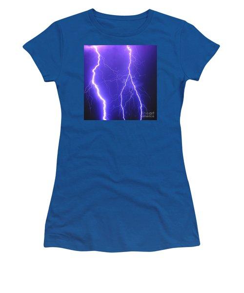 Double Triple Blue Lightning Women's T-Shirt