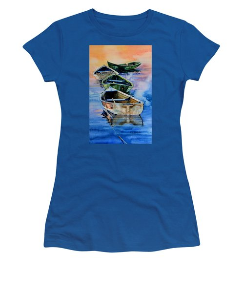 Down East Dories At Dawn Women's T-Shirt