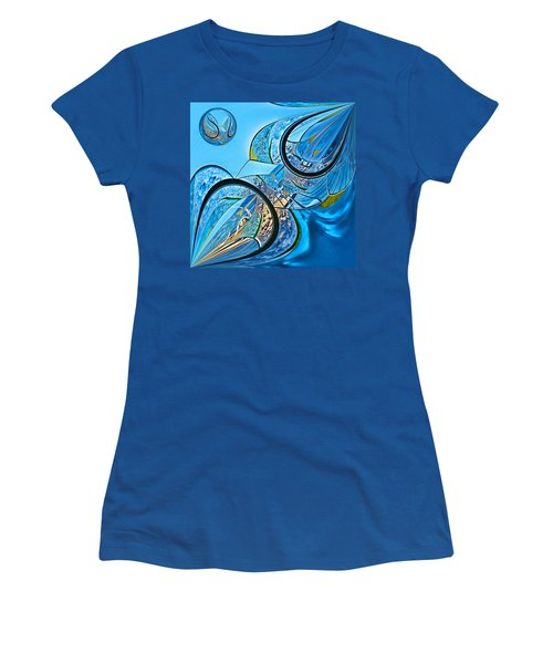 Blue Fantasy Women's T-Shirt (Athletic Fit)