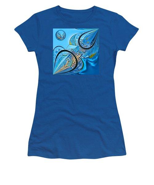 Blue Fantasy Women's T-Shirt (Athletic Fit)