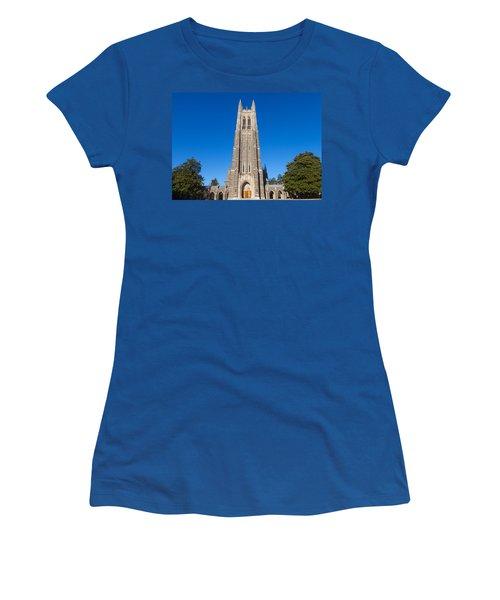 Duke Chapel Women's T-Shirt (Junior Cut) by Melinda Fawver