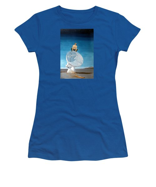 Women's T-Shirt (Junior Cut) featuring the painting Echoes by Lazaro Hurtado