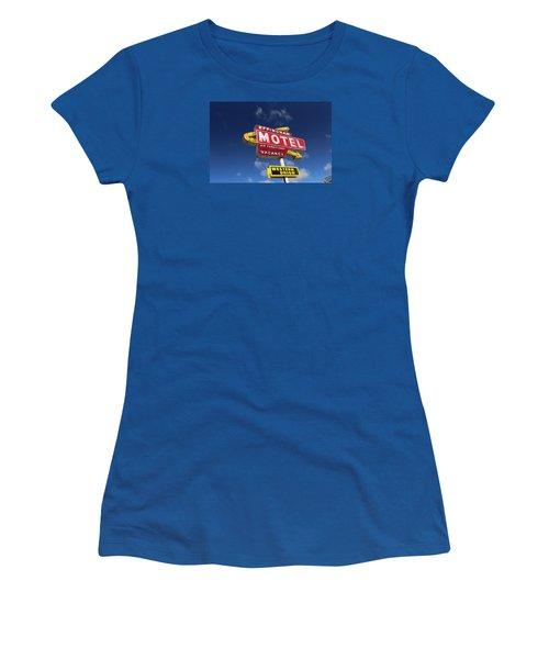 Effingham Motel Women's T-Shirt (Junior Cut) by Suzanne Lorenz