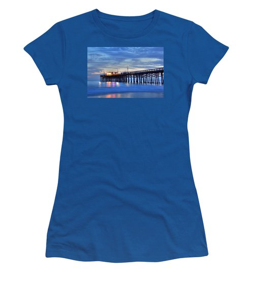Evening Reflections Newport Beach Pier Women's T-Shirt