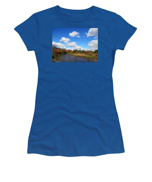 Fall At The Credit River Women's T-Shirt (Athletic Fit)