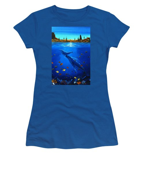 Women's T-Shirt (Junior Cut) featuring the painting First Breath by Lance Headlee