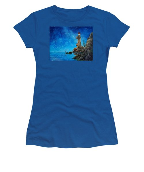 Fishing Women's T-Shirt (Junior Cut) by Matt Konar