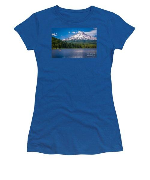 Fishing On Trillium Lake Women's T-Shirt