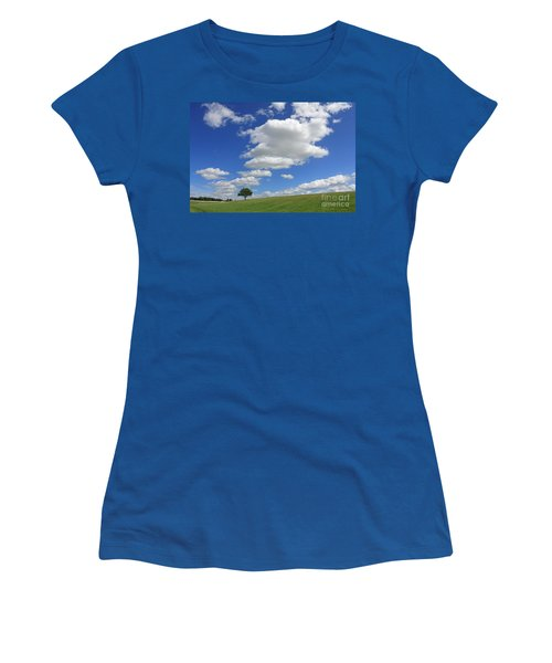 Fluffy Clouds Over Epsom Downs Surrey Women's T-Shirt