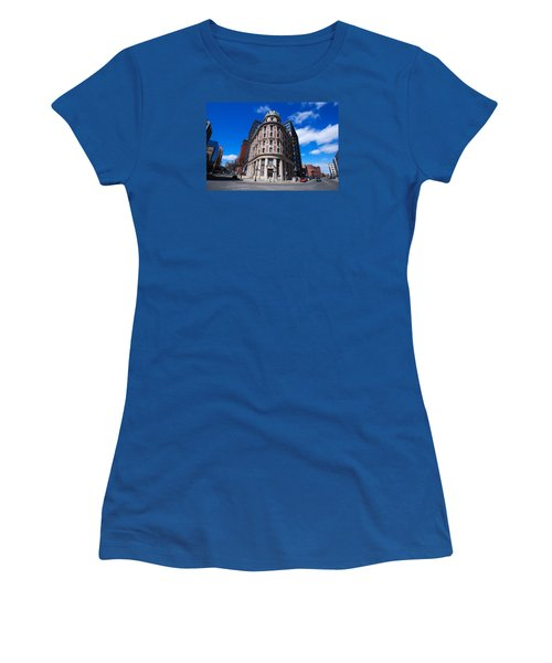 Women's T-Shirt (Junior Cut) featuring the photograph Fork Albany N Y by John Schneider