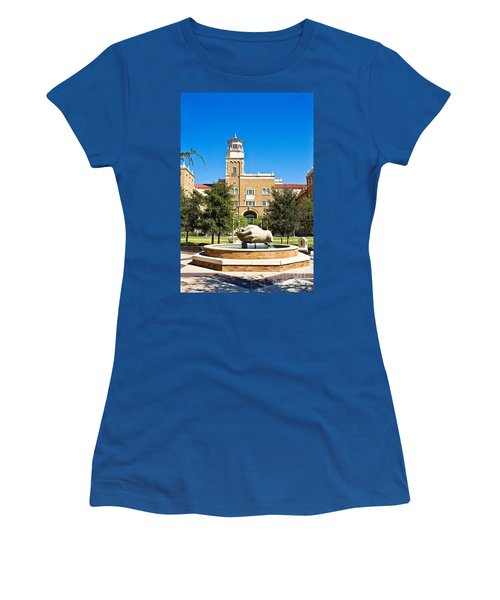 Women's T-Shirt featuring the photograph Fountain Of Knowledge by Mae Wertz