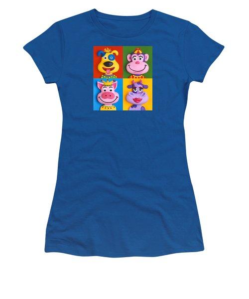 Four Animal Faces Women's T-Shirt