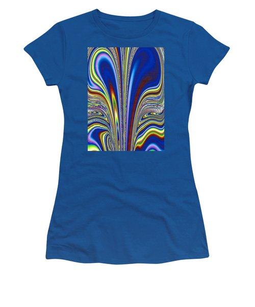 Women's T-Shirt (Junior Cut) featuring the digital art Fractal Flame by Joan Hartenstein