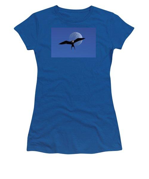 Frigatebird Moon Women's T-Shirt (Junior Cut) by Jerry McElroy