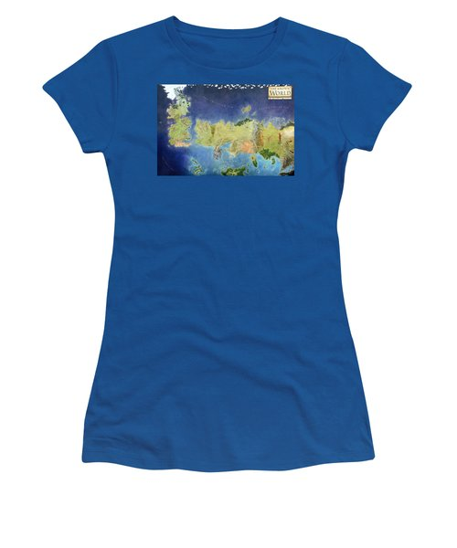 Game Of Thrones World Map Women's T-Shirt