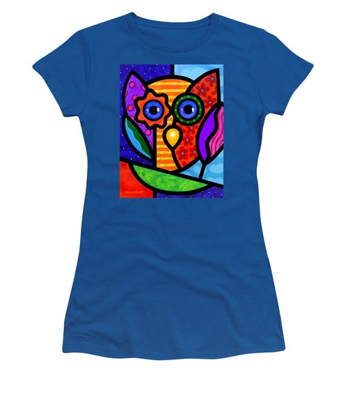 Garden Owl Women's T-Shirt (Athletic Fit)