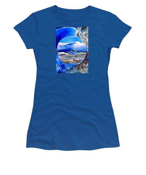 Glacier Women's T-Shirt (Junior Cut) by Catherine Lott
