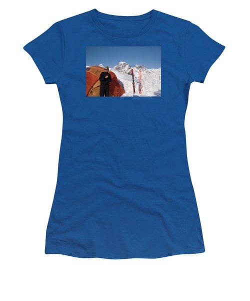 Glacier Geology Phd Student Checks Women's T-Shirt