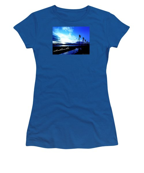 Women's T-Shirt (Junior Cut) featuring the photograph Go Seahawks by Eddie Eastwood
