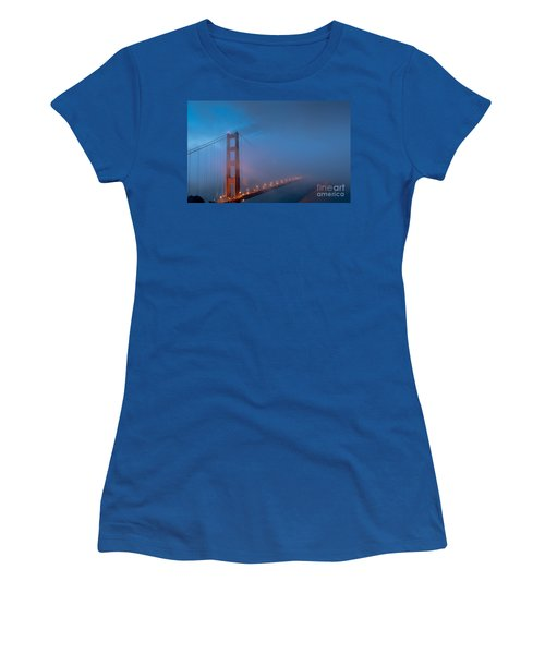 Golden Gate At Blue Hour Women's T-Shirt