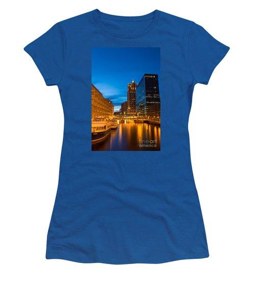 Golden Hour Milwaukee River Women's T-Shirt