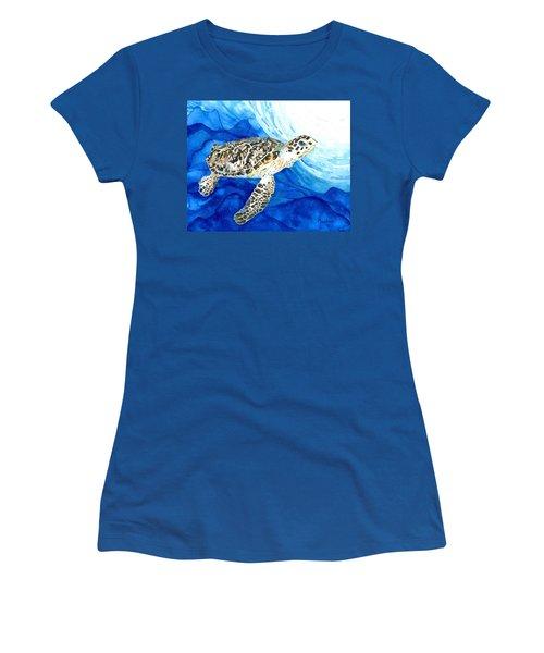 Hawksbill Sea Turtle 2 Women's T-Shirt (Athletic Fit)